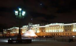 Noc Saint-Petersburg fotografia royalty free