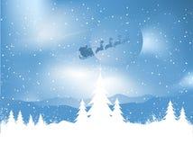 noc Santa śnieżny ilustracja wektor