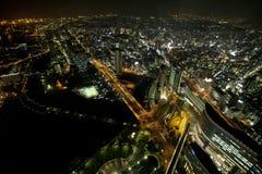 noc scena Yokohama Obrazy Royalty Free