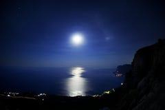 noc seascape Zdjęcie Royalty Free