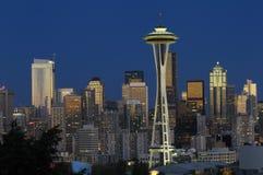 noc Seattle linia horyzontu Zdjęcie Royalty Free