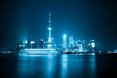 noc Shanghai linia horyzontu Obraz Royalty Free