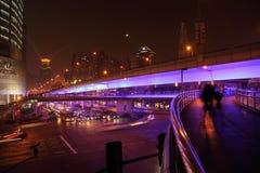 noc Shanghai ulicy Obrazy Stock