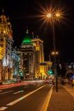 Noc Shanghai w śródmieściu Zdjęcia Royalty Free