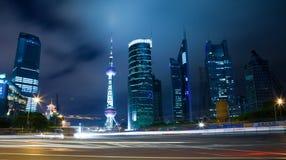 noc Shanghai widok Obraz Royalty Free