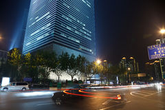 noc Shanghai widok Fotografia Stock