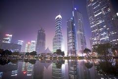 noc Shanghai widok Zdjęcia Stock