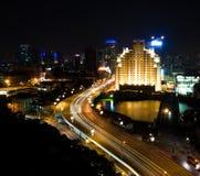 noc Shanghai widok Zdjęcie Stock