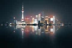 noc Shanghai widok Obrazy Stock