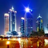 noc Shanghai widok Fotografia Royalty Free