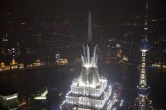 noc Shanghai widok Zdjęcia Royalty Free
