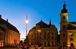 noc Sibiu widok Fotografia Royalty Free