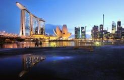 noc Singapore Zdjęcie Royalty Free
