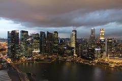 noc Singapore miasta Fotografia Stock