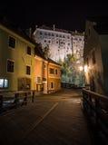 Noc spacer w Cesky Krumlov Obraz Royalty Free