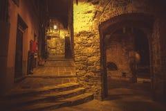 Noc spacer w Porto Venere Zdjęcia Stock