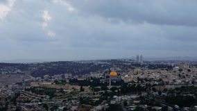 Noc spada nad Jerozolimskim miasta timelapse zbiory