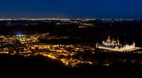 Noc spada w El El Escorial Zdjęcia Royalty Free