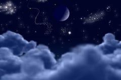 noc starlit Zdjęcie Stock