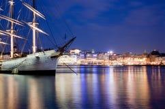 noc statek Stockholm Sweden Zdjęcie Stock