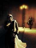 Noc strachy ilustracja wektor