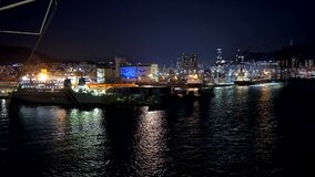 Noc strzał Korea Busan most od rejsu zbiory