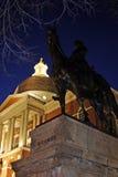 Noc strzał Massachusetts stanu dom, Boston, usa obraz stock