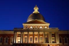 Noc strzał Massachusetts stanu dom, Boston, usa zdjęcia royalty free