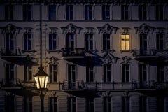 Noc strzał piękny stary dom obraz royalty free