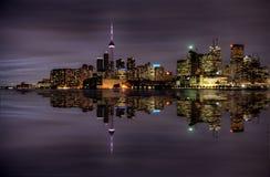 Noc strzału Toronto miasto Zdjęcia Royalty Free