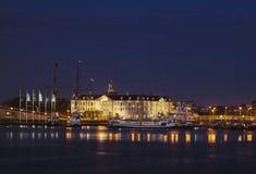 Noc strzelająca Morski Muzealny Amsterdam obrazy royalty free