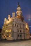 noc strzelająca urząd miasta Zdjęcia Royalty Free