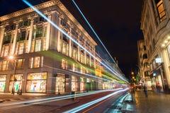 Noc strzelająca w Londyn zdjęcia stock