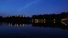 Noc Strzelająca - rezerwuar 02 Obraz Royalty Free
