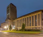 Noc Strzelająca uniwersytet w cambridge biblioteka Obrazy Royalty Free