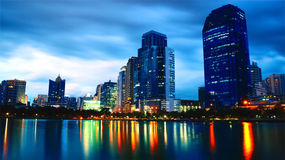 noc Thailand czas Zdjęcia Stock