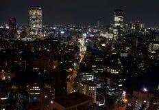 noc Tokyo widok Zdjęcia Stock