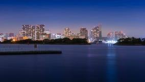 noc Tokyo widok Obrazy Royalty Free