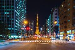 noc Tokyo wierza Obrazy Royalty Free