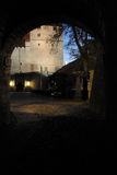 noc tunelu widok Zdjęcie Royalty Free