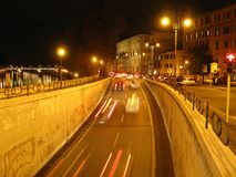noc ulica s Zdjęcia Stock
