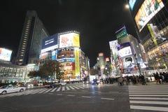 Noc uliczny widok w Tokio Zdjęcie Royalty Free