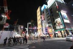 Noc uliczny widok w Tokio Obraz Royalty Free