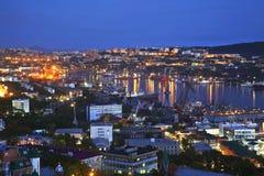 Noc Vladivostok. Rosja Zdjęcia Royalty Free
