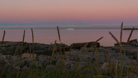 Noc w Greenland fotografia stock