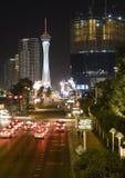 Noc w Las Vegas obraz royalty free