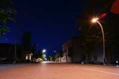 Noc w Litewskim mieście Fotografia Stock