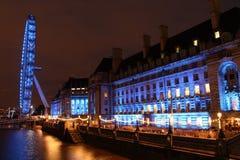Noc w Londyn Fotografia Royalty Free