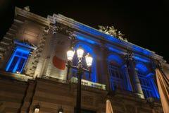 Noc w miejsca De Los angeles comédie cudownej architekturze hist Obraz Royalty Free