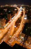 Noc w Moskwa mieście Fotografia Stock